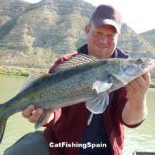 zander fishing in Spain